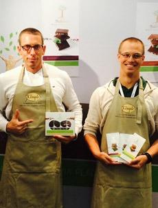 Timo und Fabian mit neuer Low-Carb Schokolade
