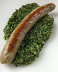 Bratwurst mit Grünkohl