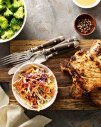 Rezept für Steak vom Schwein mit Sauerkraut