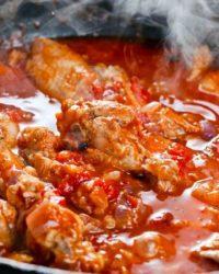 Rezept für Tomaten-Chilli Hühnchen