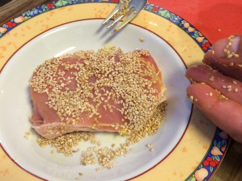 Cordon Bleu mit Sesam panieren