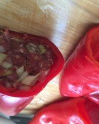 Gefüllte Paprika im Slow Cooker
