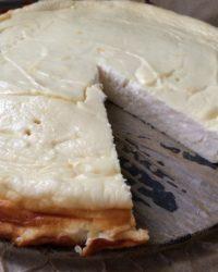Fast kompletter Käsekuchen