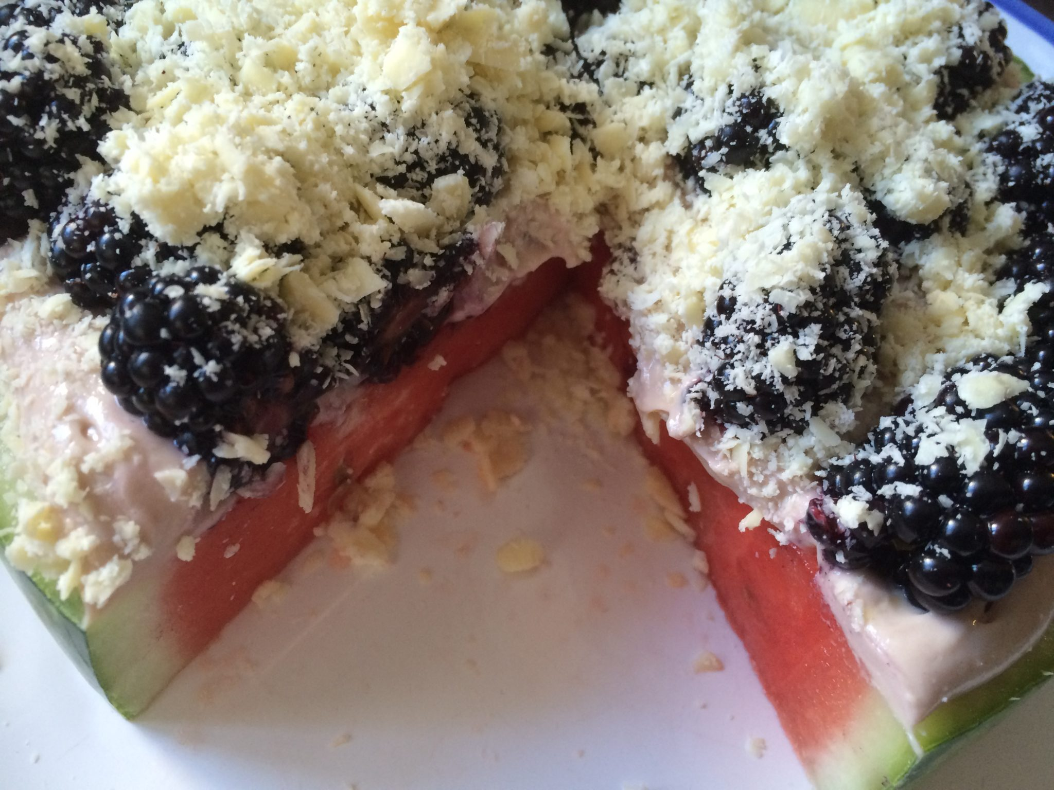Melonen-Obst-Pizza