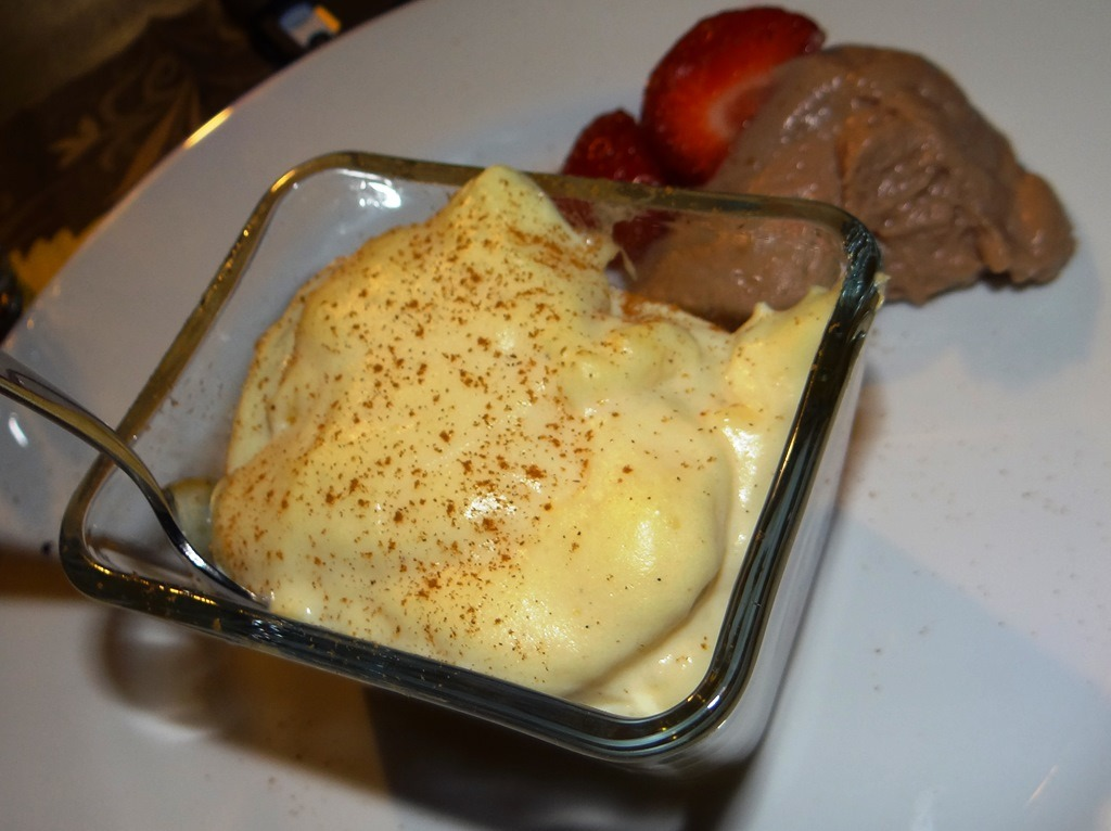 Low-Carb Pudding auf Blätterteig