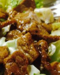 Rindfleisch eingelegt in selbst hergestellter Baharat Gewürz Marinade.