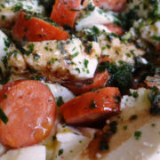 Low-Carb Mozzarella mit Debriziner Salat
