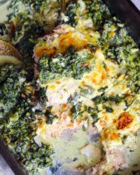 Rezept für Fischauflauf mit Spinat