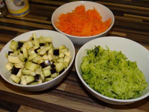 Low-Carb Gemüsetaler Zutaten