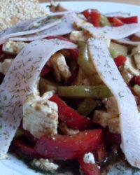 Low-Carb Sommersalat mit Schinken