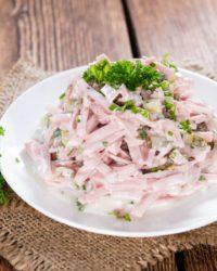 Rezept für Fleischsalat mit Putenfleischwurst