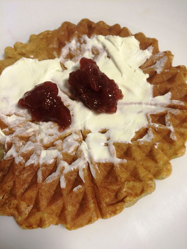 Low-Carb Protein Waffel mit Topping