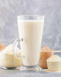 Rezept für Vanille-Buttermlich-Protein Shake