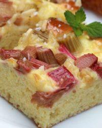Rezept für Lower-Carb Rhabarber Kuchen