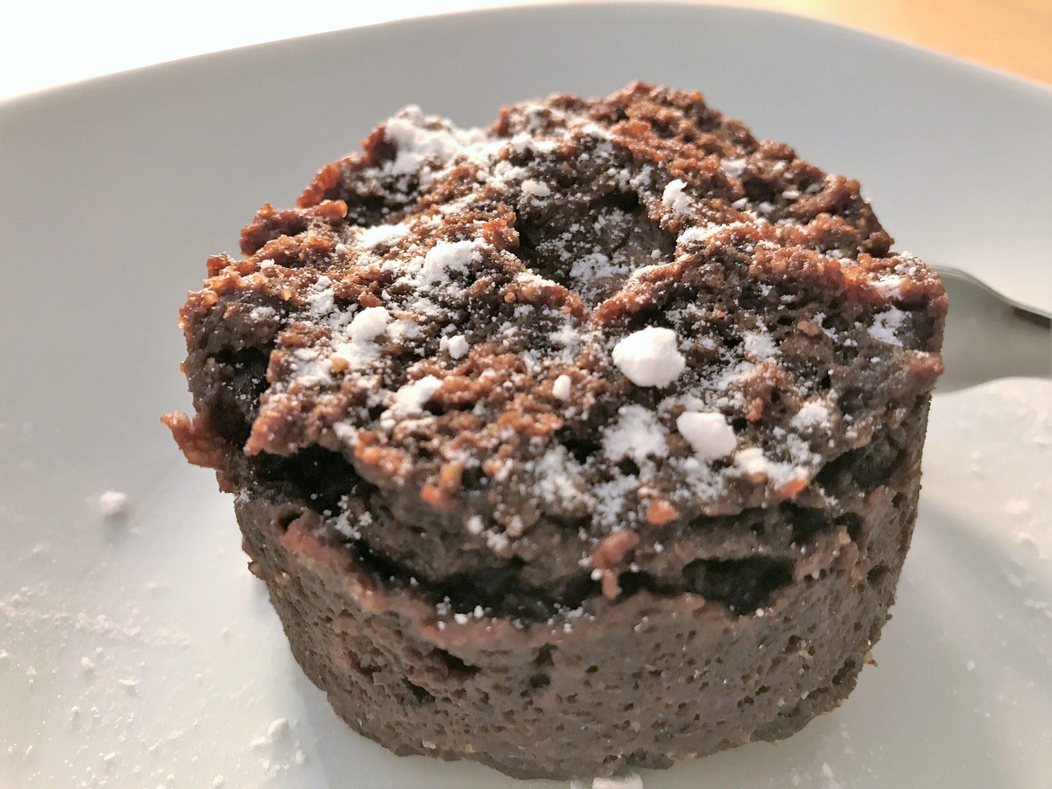 Rezept für Low-Carb Nuss-Nugat Tassenkuchen