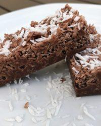 Schoko Kokos Riegel - Low-Carb Rezept