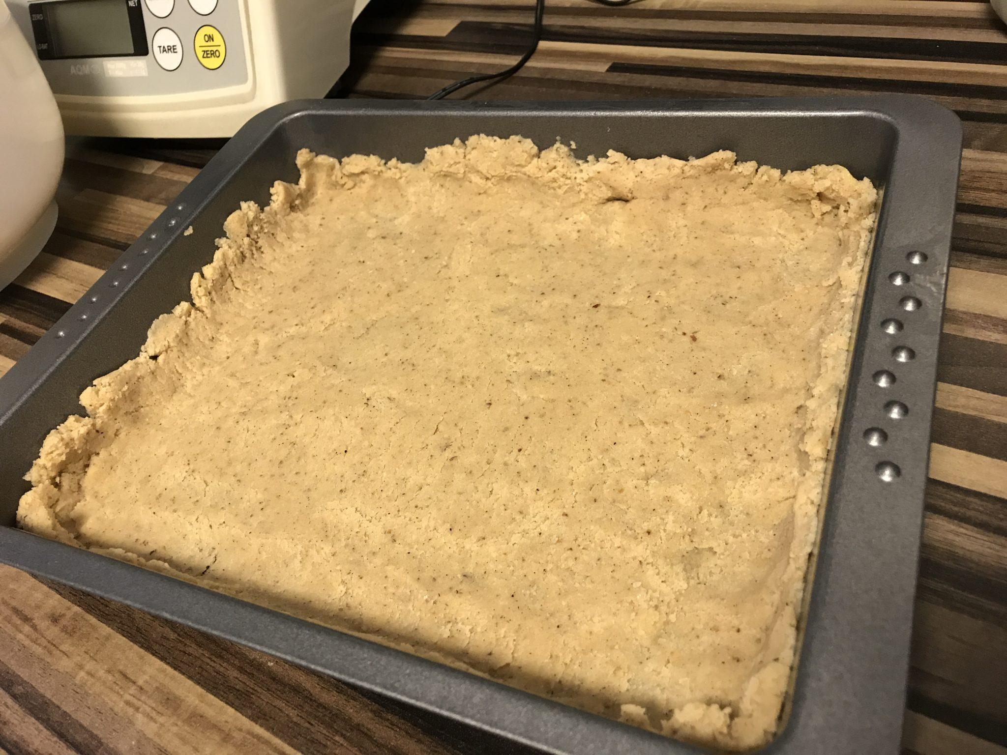 Low-Carb Birnen Tarte Zubereitung des Bodens