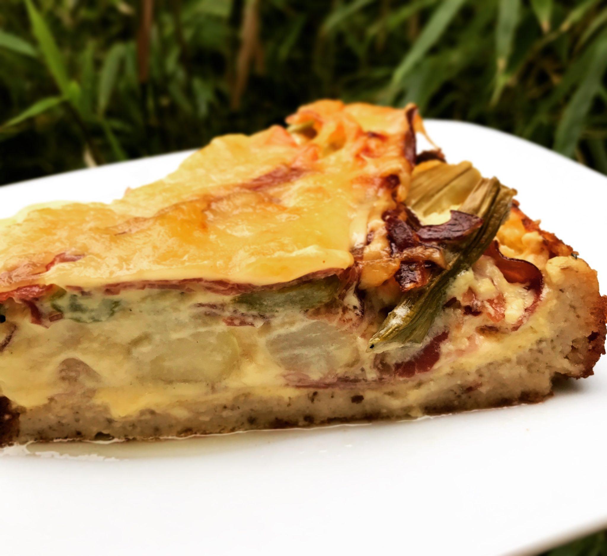 Spargel Torte mit falschem Blätterteig