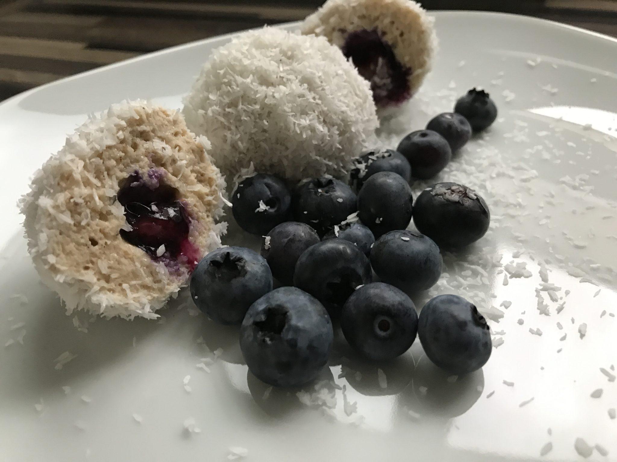 Köstliche Protein Quark Bällchen mit Kokos