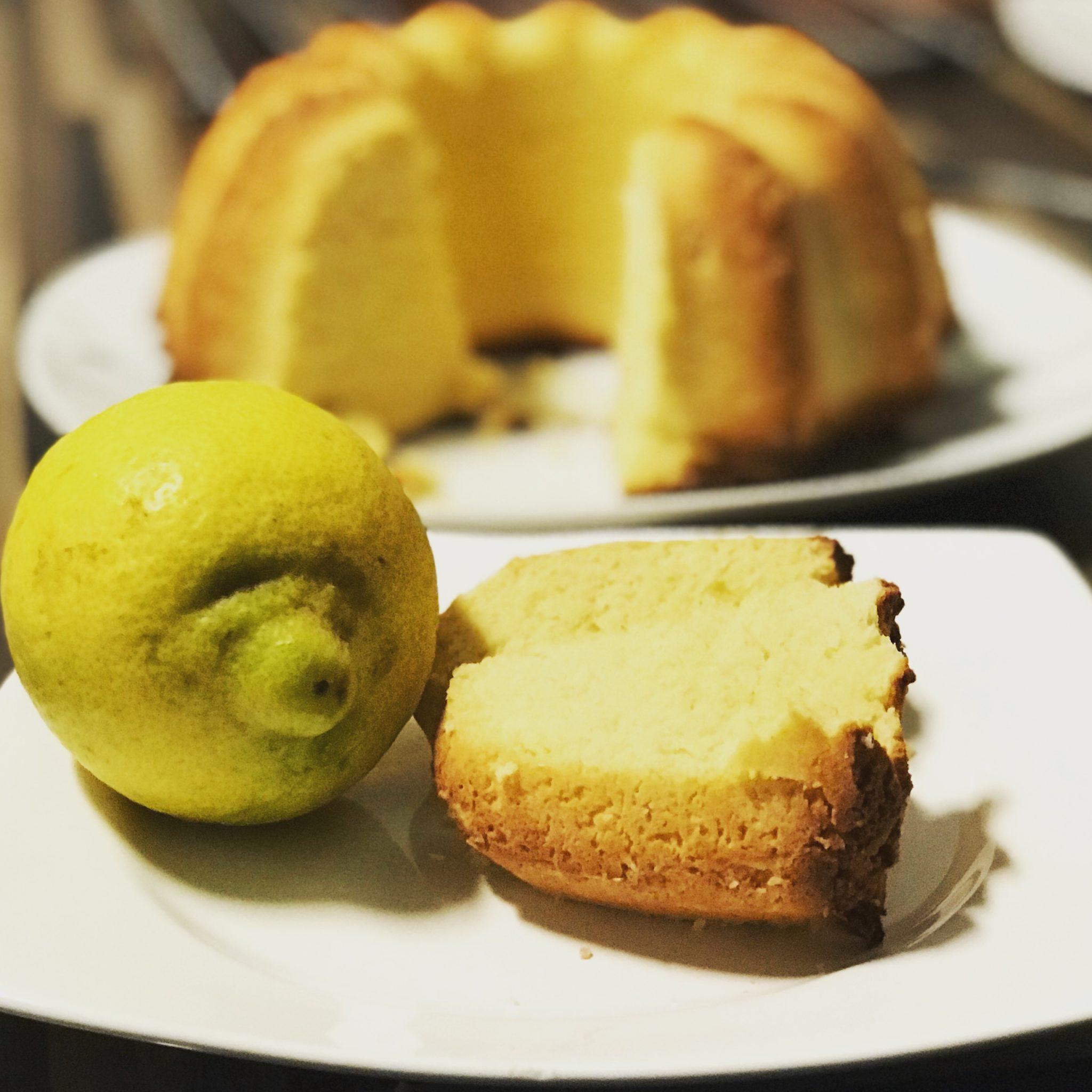 Zitronenkuchen mit Bambusfasern
