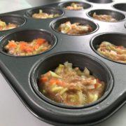 Thunfisch Muffins vorbereitet