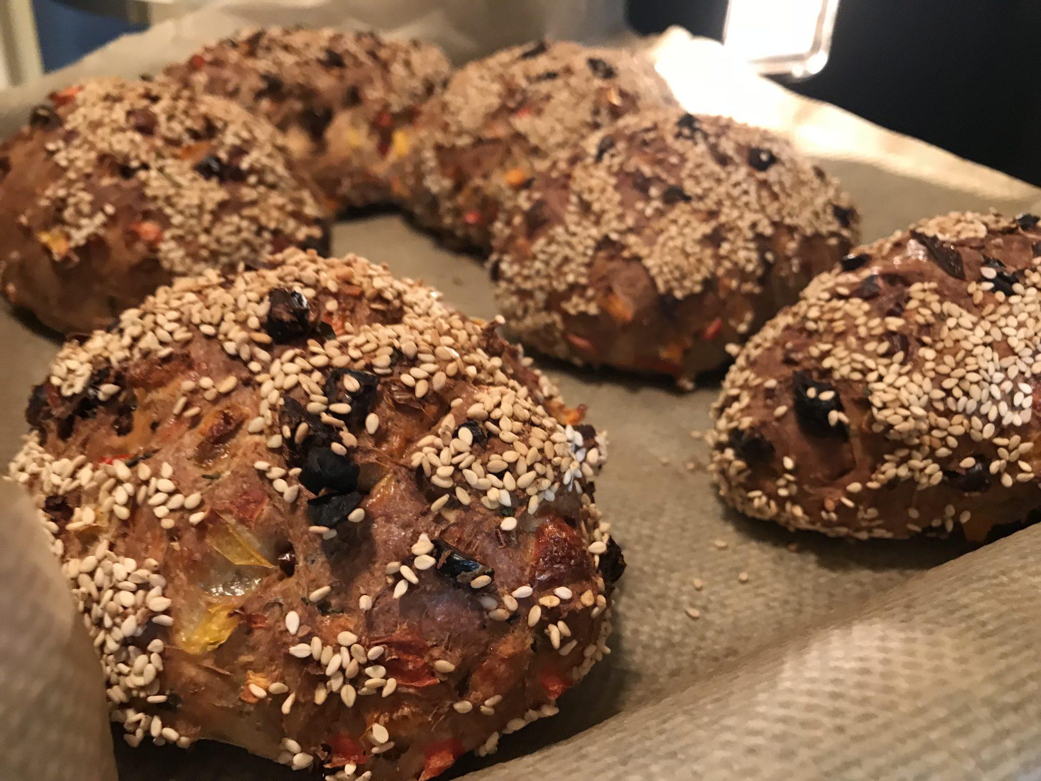 Mediterranes Protein-Baguettes
