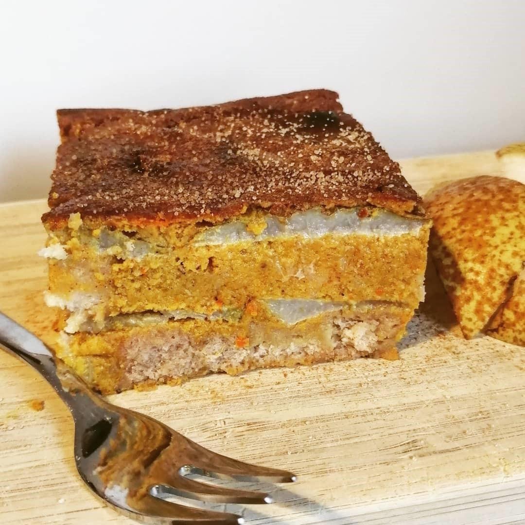 Hokkaido Kürbis Kuchen mit Eiweiss Mehl Mix Rezept (3)