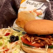 Rezept für Jackfrucht Burger mit FeelingOK Sandwich Buns
