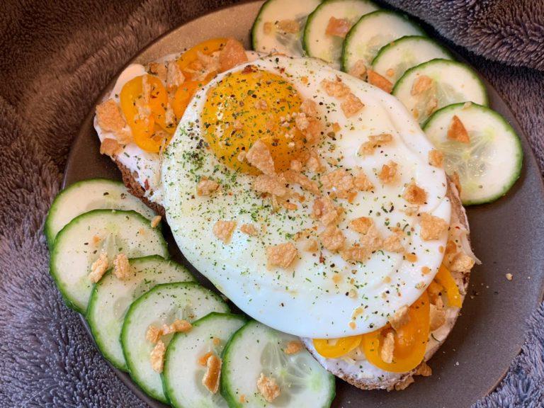 Rezeptbild Gebackenes Goldiges mit Ei und Crunchy Topping