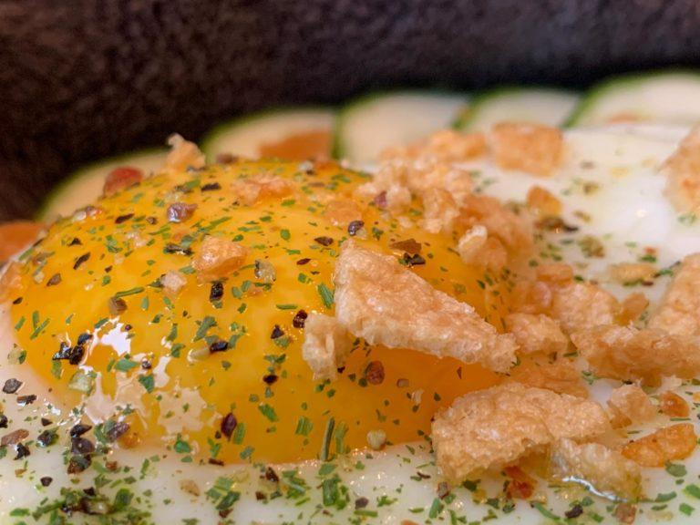 Gebackenes Goldiges mit Ei und Crunchy Topping Rezept nachkochen