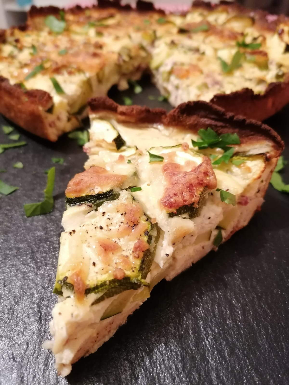 Protein Zucchini Quiche zubereiten