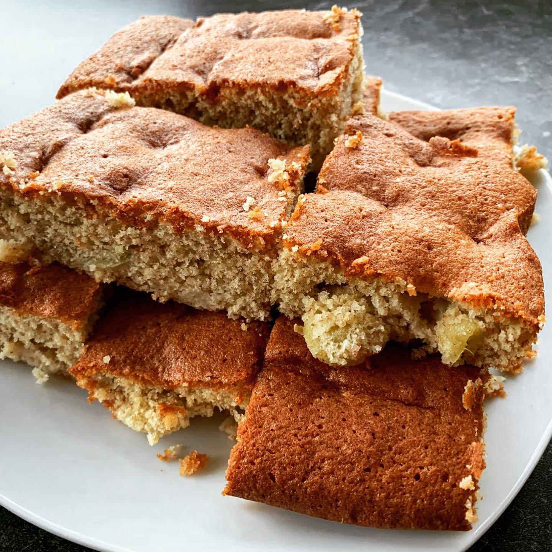 Zubereitung Protein Mandel Trauben Kuchen