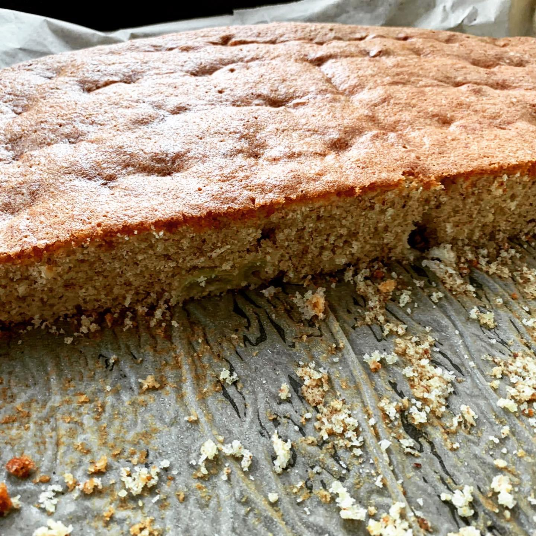 Protein Mandel Trauben Kuchen