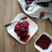 Rezept für Vanille Schoko Polenta mit Protein Pudding Konzelmann