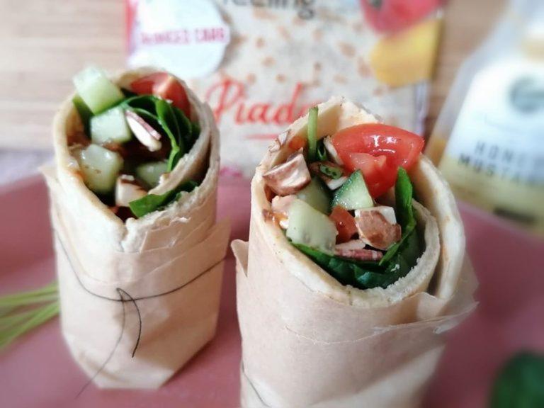 Rezeptbild Gefüllter FeelingOK Protein Wrap Piadina