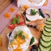 Rezept für Hähnchen auf FeelingOK Toast mit Ei