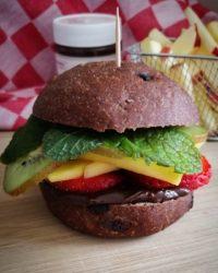Rezept für Süßer Burger mit Kakao Sandwich Bun