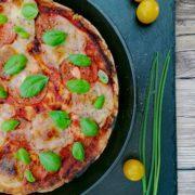 Rezept für Pizza Caprese vegan