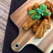 Rezept für Vegane Pizza Snack Riegel