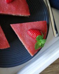Rezept für Vanille Rhabarber Kuchen vegan