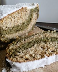 Rezept für Kokos Matcha Kuchen