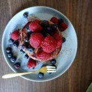 Rezept für Pancake Turm mit Himbeeren