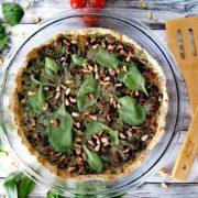 Rezept für Vegane Spinatquiche