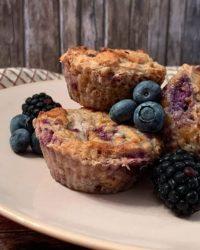 Rezept für Protein Beeren Muffins vegan