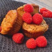 Rezept für Himbeere Zitronen Muffins vegan