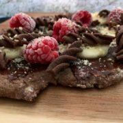 Rezept für Protein Schoko Pizza vegan