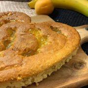 Rezept für Bananenherz mit Aprikosen Swirl vegan