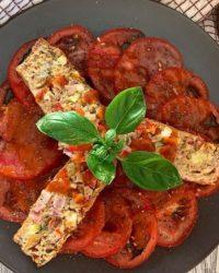 Rezept für Protein Pizza Kuchenbrot vegan