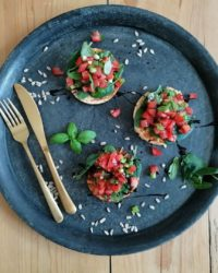 protein bruschetta mit eiweiss mehl mix konzelmanns