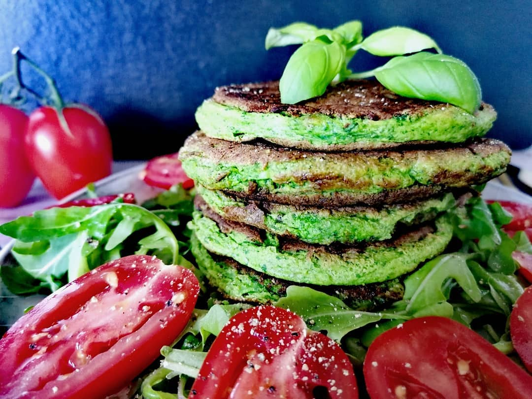 spinatige rucola pancakes